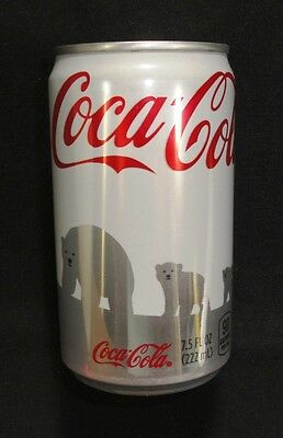 "Coca Cola Can - 2011 ""White"" Polar Bears 7.5oz Can - Unopened & Full - Coke"