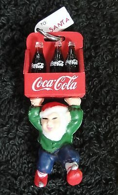 Cavanagh Ornament - 1997 Coca Cola - Elf with 6-Pack - Miniature - New !!