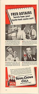 Ad Royal Crown Cola - Life Magazine 1942 - Fred Astaire - Ad Only