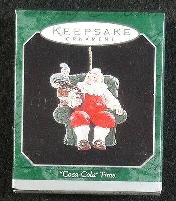 Hallmark Ornament - 1998 - Coca Cola Time - Mini - New in Box !!