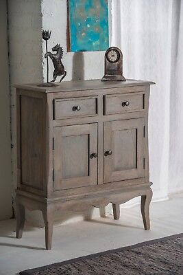 Bourdeilles Slim Sideboard Cupboard Hall Cabinet Solid Shabby Chic in Mango