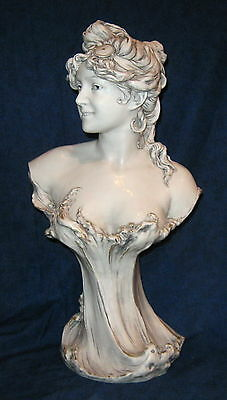 Royal Dux Art Nouveau Bust