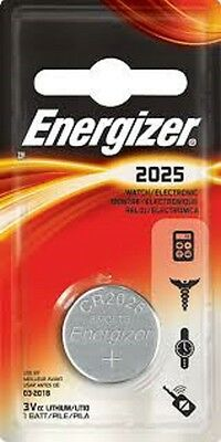 10 x Energizer CR2025 3V Lithium Coin Cell Battery 2025