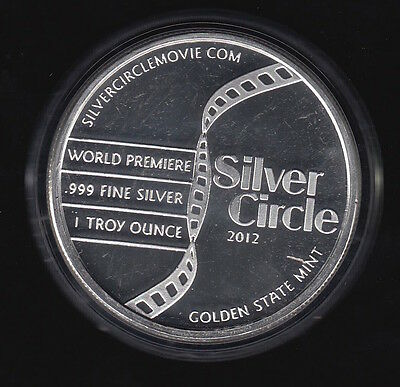 2012 Silver Circle Movie World Premier One oz. Golden State - Mint in Capsule