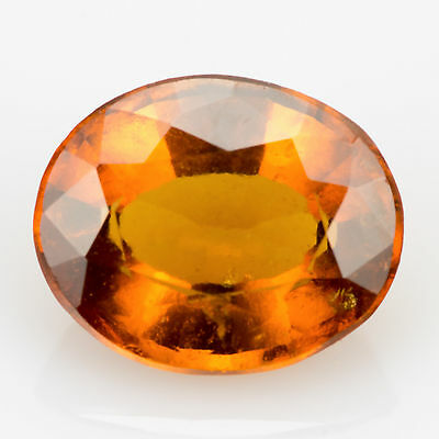 1.79 ct Hessonite Garnet Oval cut 8.1x6.7mm Si1 Natural loose gemstone