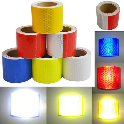 3M x 5cm  Reflective Safety Warning Conspicuity Tape Film Sticker Multicolor