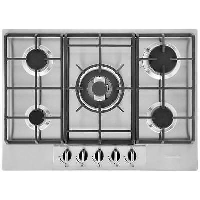 Baumatic BHG720SS Built In 70cm 5 Burners Gas Hob Stainless Steel New from AO