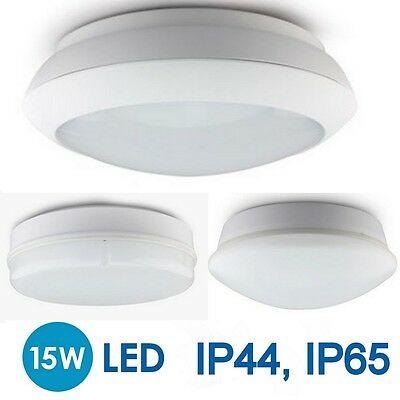 15W LED Round 2D Bulkhead Wall Ceiling Light Indoor Outdoor Microwave PIR Sensor