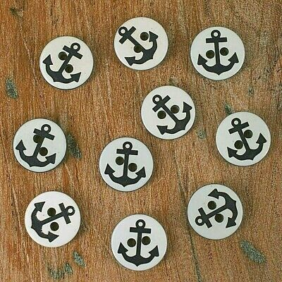 6 Cards of Elegant Navy With Rim 16mm Buttons 2 Holes Sewing//Knitting//Crafts 469