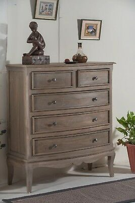 Bourdeilles 5 Drawer Chest Solid Shabby Chic in Mango Free Del!!
