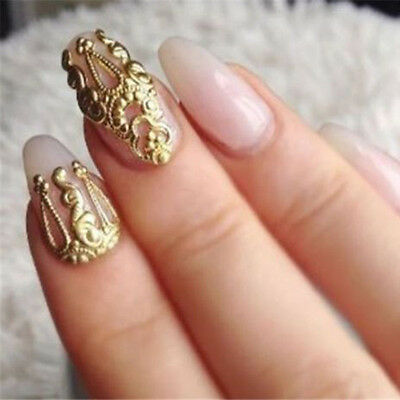 10 pcs 3D Hollow Nail Art Alloy Tips Decoration Jewelry Glitter Rhinestone Chic