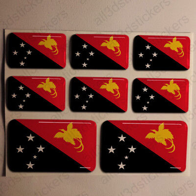 Sticker Papua New Guinea Resin Domed Stickers Flag 3D Vinyl Adhesive Decal Car