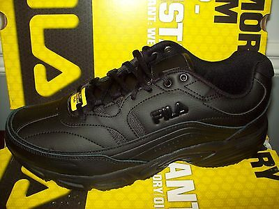 Fila Men's Memory Workshift Slip-Resistant Sneaker #ISG30002-001 All Black Med