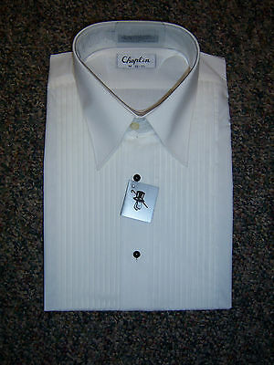NEW Ivory (off white) Tuxedo Straight Collar Formal Shirt - most mens sizes
