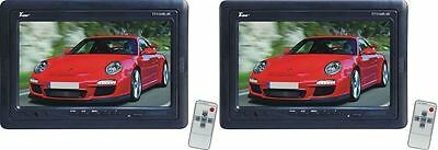 "2 TView T711HR-IR 7"" TFT Wide Screen Headrest Car Monitors With Brackets+ Remote"