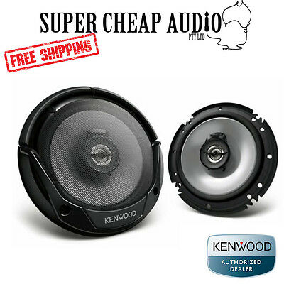 "Kenwood Kfc-E1665 6.5"" 300W Front Coaxial Flush Mount Car Audio Speakers 165Mm"