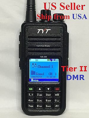 TYT MD-380 UHF DMR Digital Two Way Radio + USB cable + Software  US Seller !