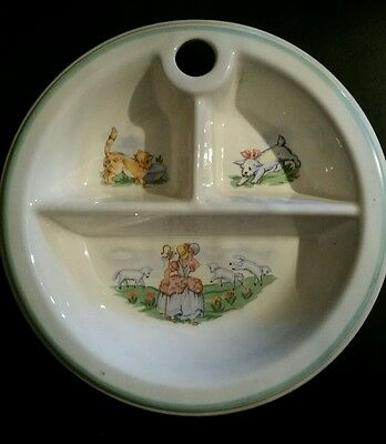 NURSERY RHYME BABY BOWL, porcelain pottery, used