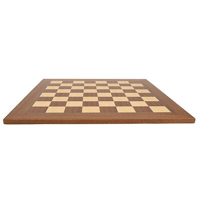 Deluxe Mahogany Wood Chess Board - 2 1/8 inch squares