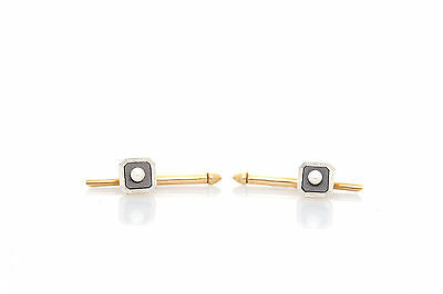 Antique Signed Tiffany & Co MOP Natural Pearl TUXEDO Studs RARE SET of TWO