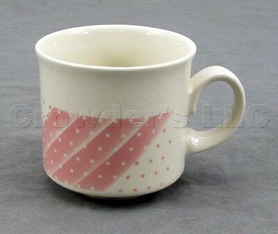 Churchill Porcelain Fine China Pink Dots Tea Coffee Cup Mug - Made in England