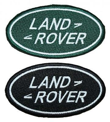 """Land Rover Logo Embroidered Patch Badge Sew /Iron-on 4"""" Green or Black Landrover"""