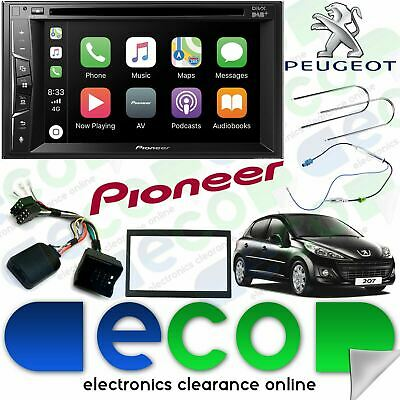 Peugeot 207CC Pioneer CD DVD MP3 USB Bluetooth DAB Carplay Double Din Car Stereo