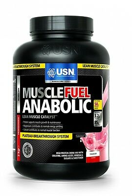 USN Muscle Fuel Anabolic 2000g Weight Gainer Muskelaufbau Protein Kohlehydrate