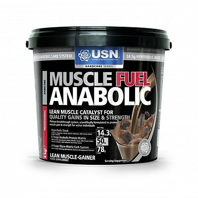 USN Muscle Fuel Anabolic 4000g Weight Gainer Protein Kohlehydrate Muskelaufbau