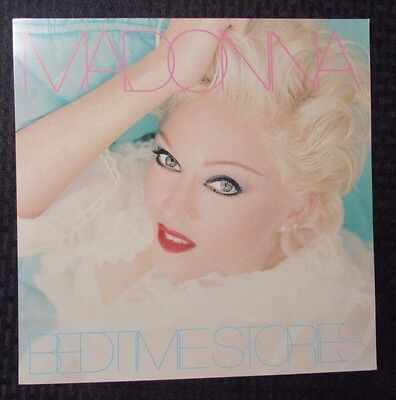 """1994 MADONNA Bedtime Stories 12.25x12.25"""" Record Store PROMO Poster NM"""