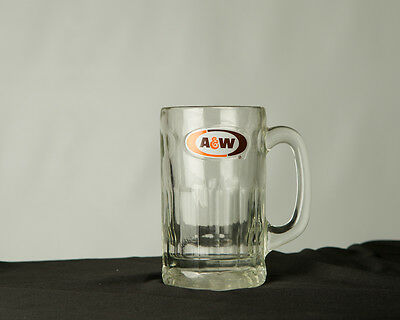 Vintage A&W Root Beer Mug - Brown and Orange Logo