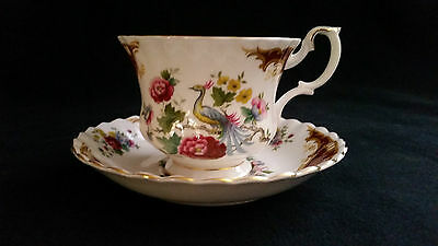 Royal Albert Chatelaine  Footed Coffee Cup & Saucer,No Chips/Cracks Gently Used