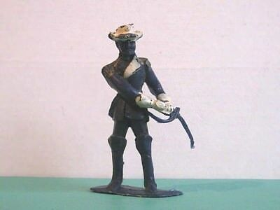 1 x CHERILEA. U.S. CAVALRY OFFICER 1960's PLASTIC TOY SOLDIER.  60mm SCALE