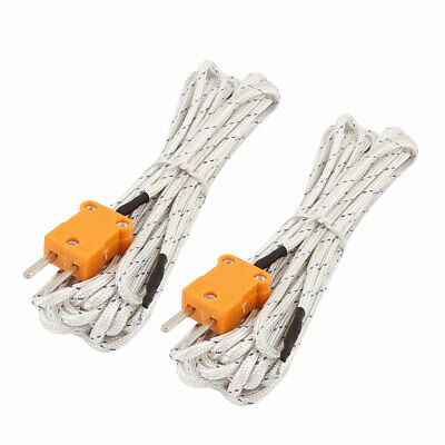 5M K Type Yellow Connector -50-204 Celsius Temperature Thermocouple Wire 2 Pcs