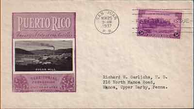 PUERTO RICO TERRITORY (#801) CV=$12.00, 1937 First Day Cover *RARE*