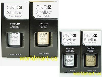 CND Shellac Gel UV Soak-Off Small Base Top Coat 0.25fl.oz / Large Base Top Coat