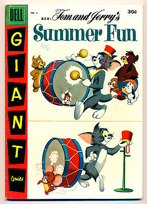 Tom and Jerry's Summer Fun #4 (Dell Giant) VF8.7