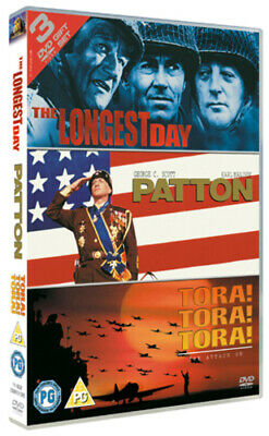 The Longest Day/Patton/Tora! Tora! Tora! DVD (2005) John Wayne, Annakin (DIR)