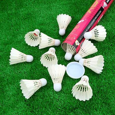 12pcs B3  professional Competition Goose Feather Badminton Shuttlecocks 45QE