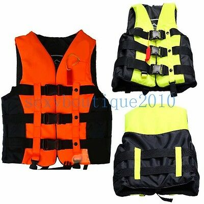 Kids Children Safe Life Jacket Vest Adjustable Size For Fishing Swimming Rafting
