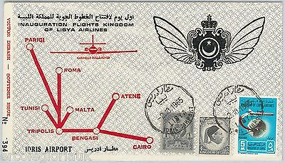 AIRMAIL - Special 1st  FLIGHT COVER - LIBYA AIRLINES - Idris Airport  02.10.1965
