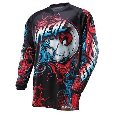 ONeal Element MX Jersey MUTANT rot blau Motocross Trikot Cross Motorrad Enduro