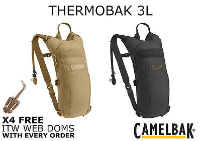 Camelbak 3 Litre Thermobak Hydration Pack 100oz Black & Coyote Free Web Doms