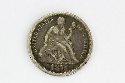 Antique 1875 Seated Liberty Silver Dime Love Token