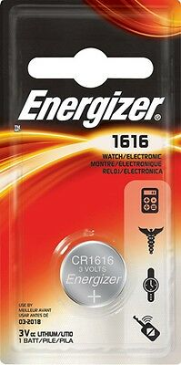 1 x Energizer 1616 CR1616 3V Lithium Coin Cell Battery DL1616 KCR1616, BR1616