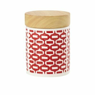 NEW Leaf & Bean Embossed Canister 400ml Red