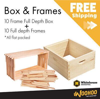 10 Frame Full Depth Extra Level Kit with 10 x Frames for Beehive / Bee Hive