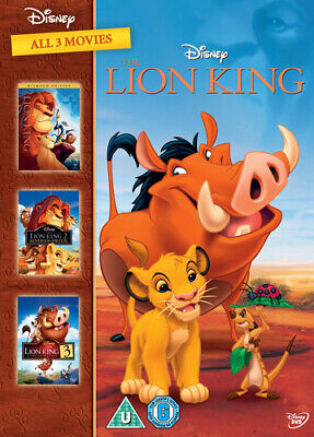 The Lion King Trilogy DVD (2011) Roger Allers cert U 3 discs Fast and FREE P & P