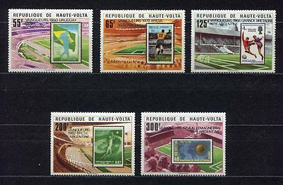 s5247) HAUTE-VOLTA 1979 MNH** World Cup Football - Coppa del Mondo Calcio 5v.