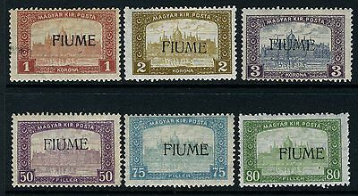 FIUME-1918/19 PARLIAMENT 50f to 3k mounted mint Sg 13-18 V2443